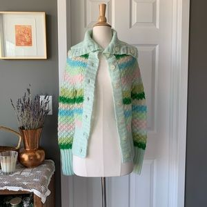 Free People candy stripe chunky cardigan 1695